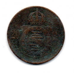 1869 - 20 Réis - Moeda Brasil Império
