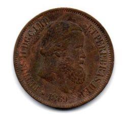 1869 - 20 Réis - Sem Ponto - Moeda Brasil Império