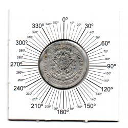 1957 - 50 Centavos - ERRO : Reverso Inclinado - Moeda Brasil