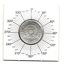 1961 - 50 Centavos - ERRO : Reverso Inclinado - Moeda Brasil