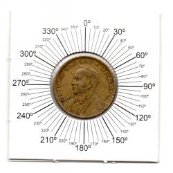 1947 - 50 Centavos - ERRO : Reverso Inclinado - Moeda Brasil