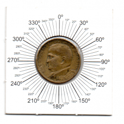 1948 - 50 Centavos - ERRO : Reverso Inclinado - Moeda Brasil