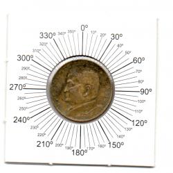 1951 - 50 Centavos - ERRO : Reverso Inclinado - Moeda Brasil