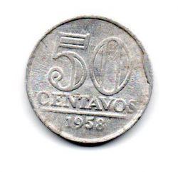 1958 - 50 Centavos - ERRO : Cunho Quebrado - Moeda Brasil
