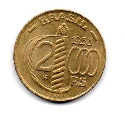 1938 - 2000 Réis - Poligonal - Duque de Caxias - Moeda Brasil - Estado de Conservação: Soberba/Flor (Sob/Fc)