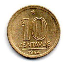 1944 - 10 Centavos - Com Sigla BR/OM - Moeda Brasil - Estado de Conservação: Soberba/Flor (Sob/Fc)