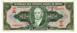 C075 - 10 Cruzeiros - 2° Estampa - Série 264 - Autografada / Assinada a Mão - Getúlio Vargas - Data: 1950 - SOB