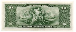 C075 - 10 Cruzeiros - 2° Estampa - Série 165 - Autografada / Assinada a Mão - Getúlio Vargas - Data: 1950 - SOB/FE