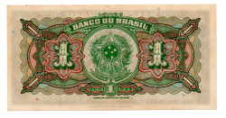 C001 - 1 Cruzeiro (1 Mil Réis Reaproveitada no Cruzeiro) - Assinada a mão / Autografada - 1° Estampa - Série 477 - Campos Salles - Data: 1944 - SOB/FE