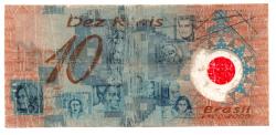 C332 - 10 Reais - Data: 2001 - Polímero - Pedro Álvares Cabral - Comemorativa 500 Anos Descobrimento do Brasil - Regular (R)