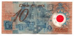 C332 - 10 Reais - Data: 2001 - Polímero - Pedro Álvares Cabral - Comemorativa 500 Anos Descobrimento do Brasil - UTG (Rasgada)