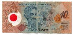 C332 - 10 Reais - Data: 2001 - Polímero - Pedro Álvares Cabral - Comemorativa 500 Anos Descobrimento do Brasil - UTG (Rasurada)