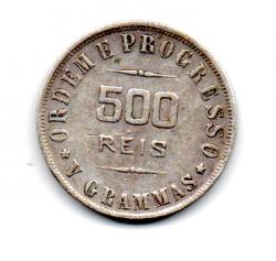 1907 - 500 Réis - Prata - Moeda Brasil