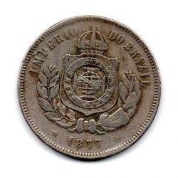 1877 - 200 Réis - Moeda Brasil Império