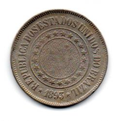 1893 - 200 Réis - Moeda Brasil