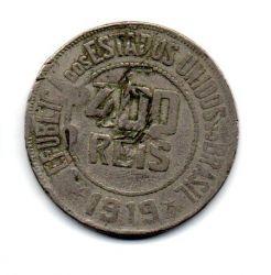 1919 - 400 Réis - Moeda Brasil - Danificada