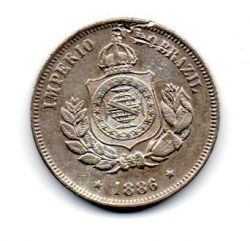 1886 - 50 Réis - Moeda Brasil Império - C/ Danos