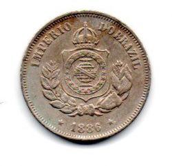 1886 - 50 Réis - Moeda Brasil Império