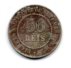 1887 - 50 Réis - Moeda Brasil Império