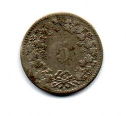 Suiça - 1850 - 5 Rappen