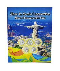 Álbum p/ Moedas Comemorativas das Olimpíadas - Vazio