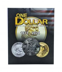 Álbum p/ Moedas - One Dollar Eua 1971 - 2024 - Estados Unidos - Vazio
