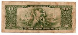 C113 - 1 Centavo (Carimbo sob 10 Cruzeiros) - 2° Estampa - Série 3093 - Numeração : 000202 - Getúlio Vargas - Erro:
