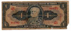 C009 - 1 Cruzeiro - 1° Estampa - Série 857 - Autografada / Assinada a Mão - Marquês de Tamandaré - Data: 1944 - UTG