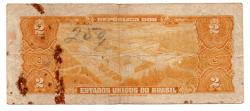 C014 - 2 Cruzeiros - 1° Estampa - Série 146 - Autografada / Assinada a Mão - Duque de Caxias - Data: 1944 - UTG