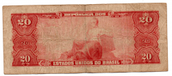 C023 - 20 Cruzeiros - 1° Estampa - Série 1232 - Deodoro da Fonseca - Data: 1963 - BC