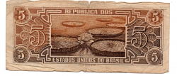 C111 - 5 Cruzeiros - Série 020 - Índio - Data: 1961 - UTG