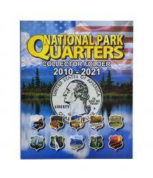 Álbum p/ Moedas - National Park Quarters (0,25 / Quarter Dollar) - 2010 a 2021 - Estados Unidos - Vazio