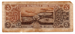 C111 - 5 Cruzeiros - Série 032 - Índio - Data: 1961 - UTG