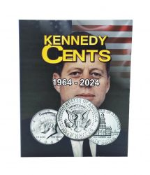 Álbum p/ Moedas -  Kennedy Cents (0,50 / Half Dollar) - 1964 a 2024 - Estados Unidos - Vazio