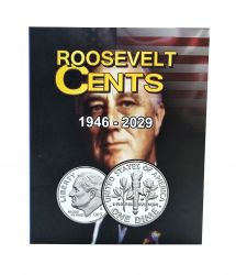 Álbum p/ Moedas -  Roosevelt Cents (0,10 / Dime) - 1946 a 2029 - Estados Unidos - Vazio