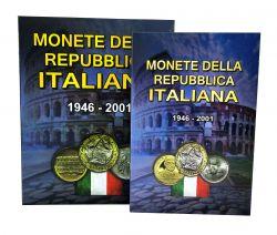 Álbum + Catálogo p/ Moedas Itália - 1946 - 2001 Vazio