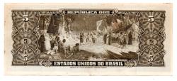 C074 - 5 Cruzeiros - 2° Estampa - Série Aleatória  - Barão do Rio Branco - Data: 1964 - Estado de Conservação : (Mbc/Sob)