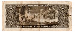 C073a - 5 Cruzeiros - 2° Estampa - Série Aleatória  - Barão do Rio Branco - Data: 1964 - Estado de Conservação : Bem Conservada (BC)