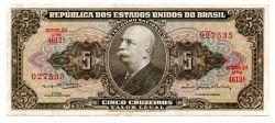 C074b - 5 Cruzeiros - 2° Estampa - Série Aleatoria - Barão do Rio Branco - Data: 1964 - Estado de Conservação : (Mbc/Sob)