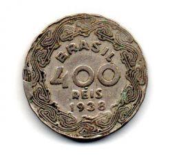 1938 - 400 Réis - ERRO : Cunho Quebrado - Moeda Brasil