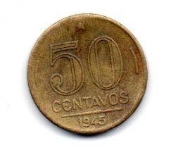 1945 - 50 Centavos - ERRO : Cunho Quebrado - Moeda Brasil