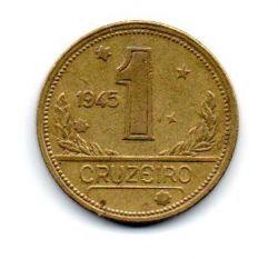 1945 - 1 Cruzeiro - ERRO : Cunho Quebrado - Sem Sigla WT - Moeda Brasil