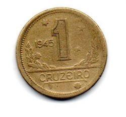 1945 - 1 Cruzeiro - ERRO : Cunho Descentralizado - Sem Sigla WT - Moeda Brasil