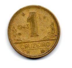 1943 - 1 Cruzeiro - ERRO : Cunho Trincado - Moeda Brasil