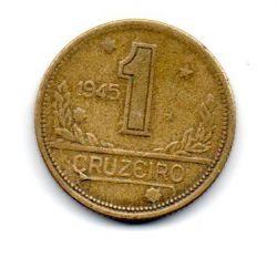 1945 - 1 Cruzeiro - ERRO : Cunho Trincado - Sem Sigla WT - Moeda Brasil